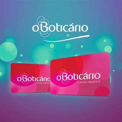 CARTÃO PRESENTE O BOTICARIO - R$ 100,00